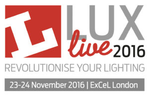 PowerLed Exhibiting at LuxLive 2016. Visit us at stand N32