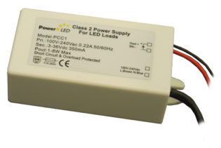 8W 3V-36V 350mA IP65 Rated Constant Current LED Lighting Power Supply from PowerLED