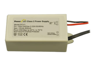 10W 12V 830mA IP65 Rated Constant Voltage LED Lighting Power Supply from PowerLED