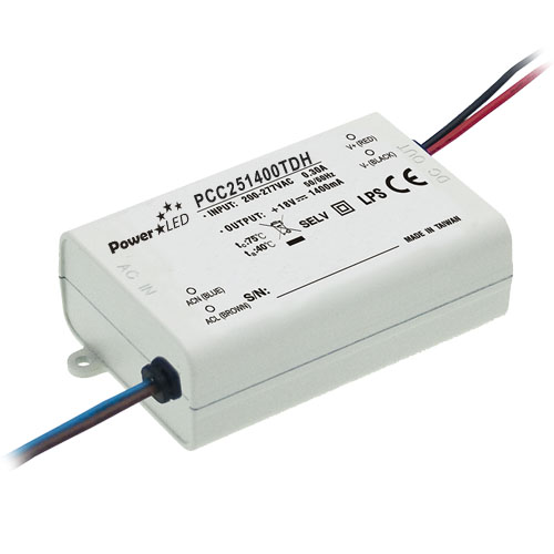 25.2W 12-18V 1400mA Triac Dimming Non IP Rated Constant Current LED Lighting Power Supply from PowerLED