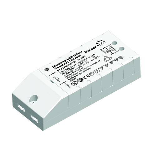 12W 9-18V 700mA Triac Dimming Non IP Rated Constant Current LED Lighting Power Supply from PowerLED
