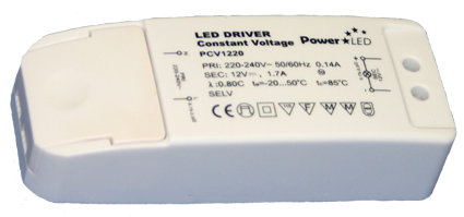 PCV12W-20W Series Non IP Constant Voltage LED Drivers from PowerLED