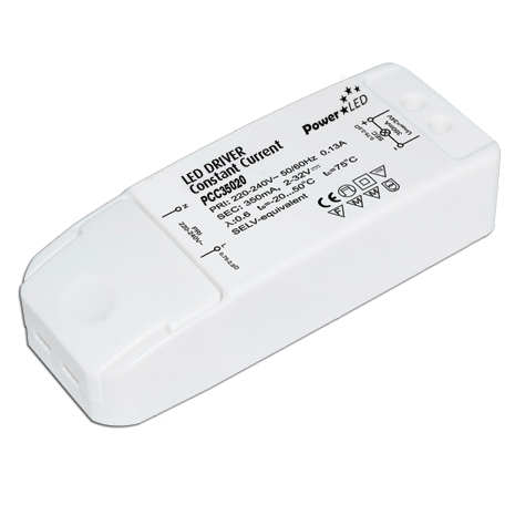 PCC06W-20W Series 6-20W 350-1050mA Constant current LED Drivers from Powerled.uk.com
