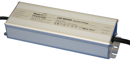 PCV-150E Series - 150W IP65 Constant Voltage LED Drivers