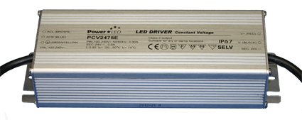 PCV-75E Series - 75W IP65 Constant Voltage LED Drivers