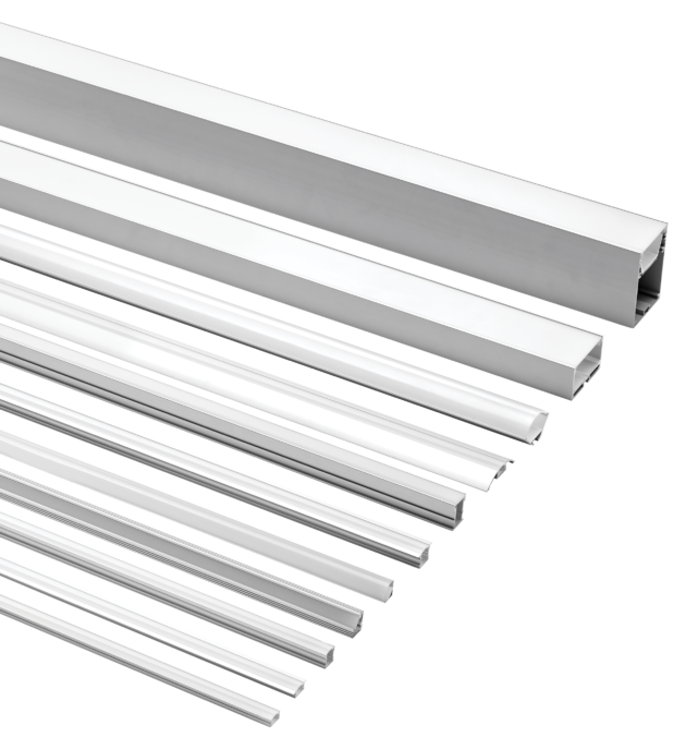 EXT Series Aluminium Extrusions for LED Flexi Strip from