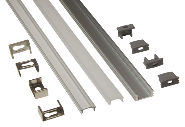 EXT1 - Low Profile Surface Mounted Flexi Strip Aluminium Extrusion from PowerLED