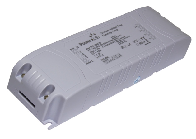 PCV2460TD - 60W 24Vdc Triac Dimming Constant Voltage LED Driver from PowerLED