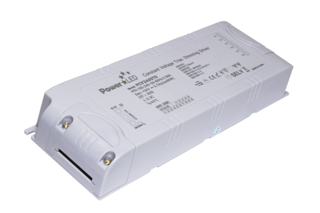 PCV1280TD - 66W 12Vdc Triac Dimming Constant Voltage LED Driver from PowerLED