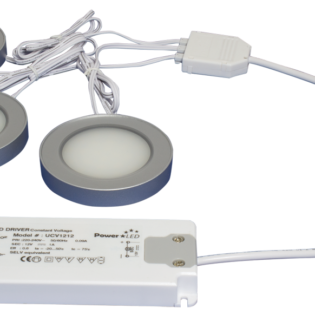 TRIO R Series 3W LED Magnetic Round Light Kit