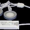 TRIO-3RB30K 3pc 3W Black Round 3000K LED Light Kit
