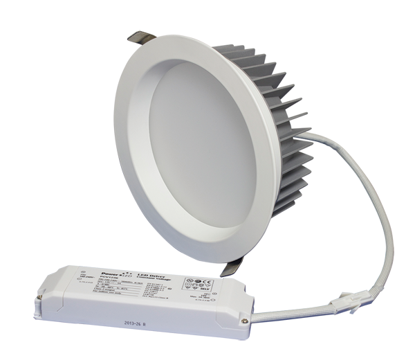 "ZEN7 22W3K-W 22W Fixed 7"" Round 3000K White LED Downlight"
