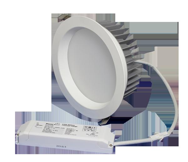 "ZEN8 35W4K-W 35W Fixed 8"" Round 4000K White LED Downlight"