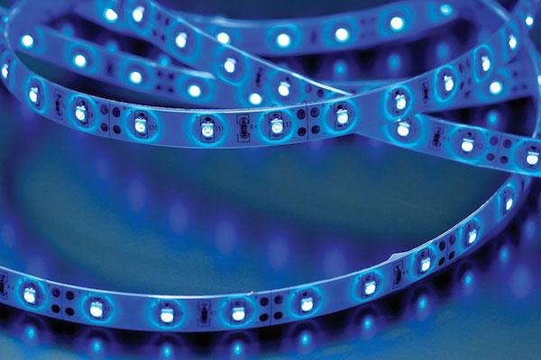F10-B3528-12-60-IP65 Blue Low Power LED Flexi Tape