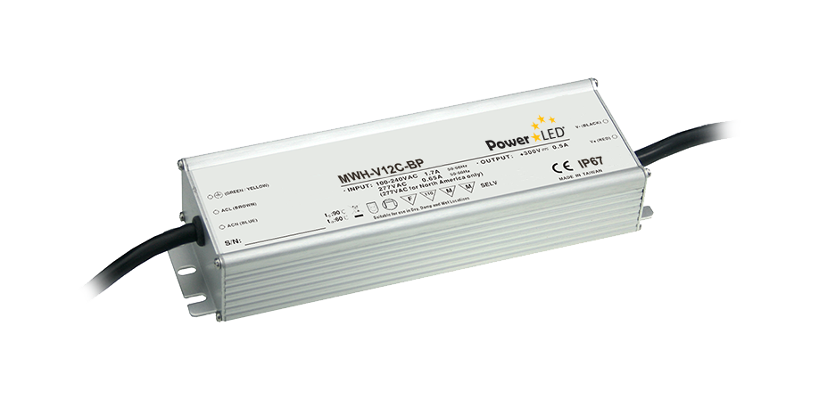 MWH-V12C-BP - 120W IP67 Constant Voltage LED Driver
