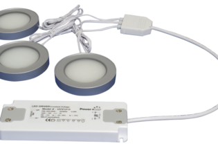 TRIO-3RW30K-TD 3pc Triac Dimmable 3W White Round 3000K LED Light Kit