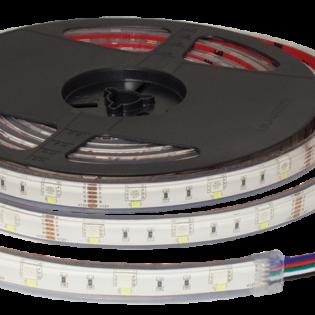 F10-RGBW-12-60-IP68 - 12Vdc RGBW Tape 60 LEDs Per Metre IP68 Rated 10mm LED Flexi Strip