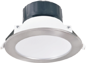 MINIZ4-9W3K-W - 9W 3000K 750LM Recessed LED Down Light - with Optional Satin Nickel Trim from PowerLed