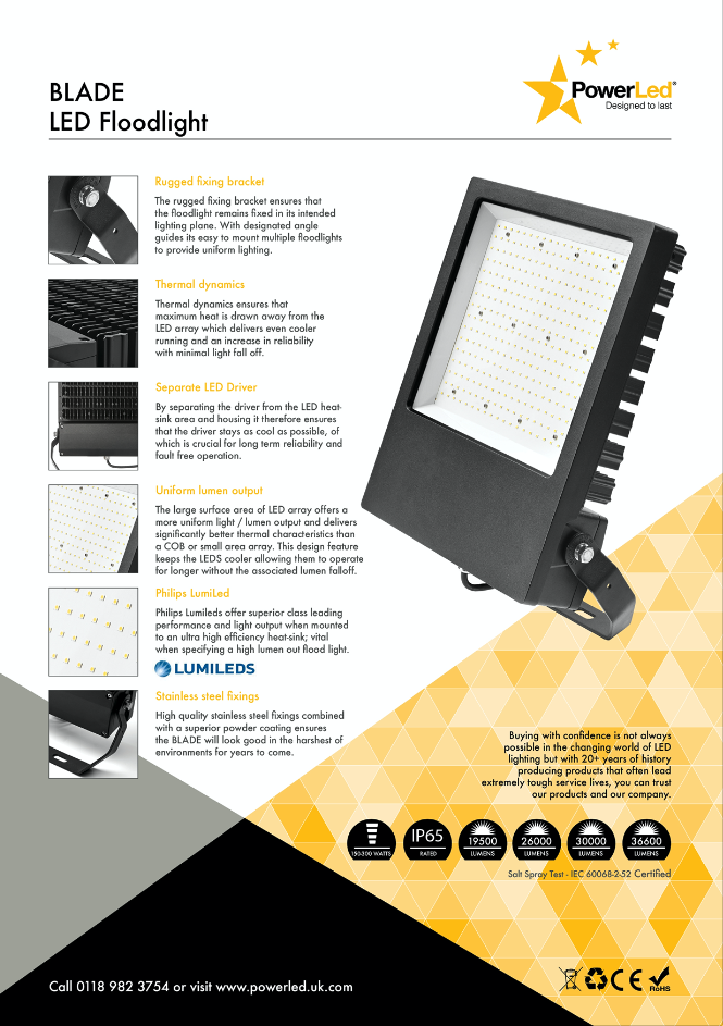 BLADE300-32200 300W 32200lm LED Floodlight good reasons