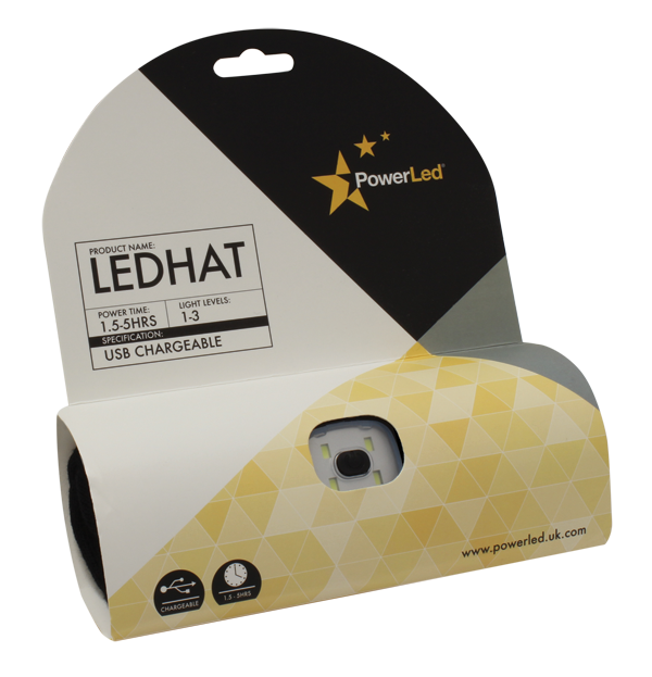 LEDHAT USB Chargeable Beanie Hat from PowerLed