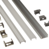 EXT7 - Low Profile Surface Mounted Flexi Strip Aluminium Extrusion from PowerLED