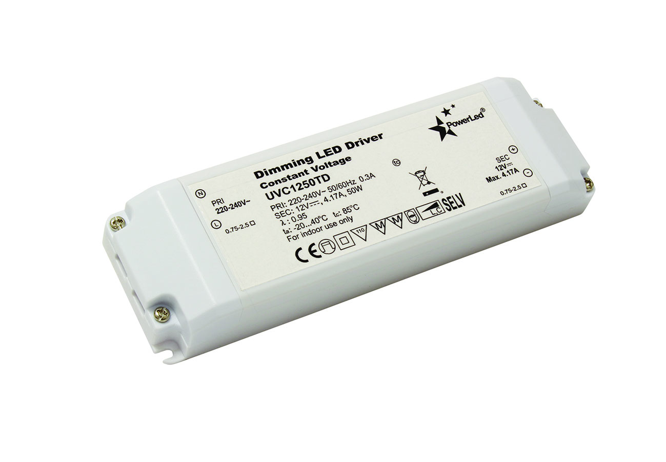 Uvc2450td 50w 24v 208a Constant Voltage Triac Dimming Led Driver Power 12v Circuit 100w
