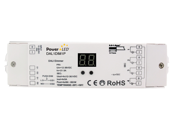 DAL1DIM1P - DALI Push Series Dimmer from PowerLED