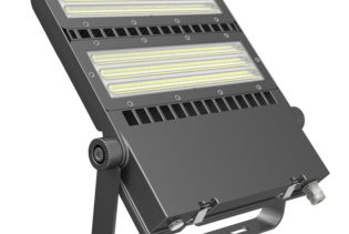 FLEX-LENS-240-57K-50x88B 240W Asymmetric floodlight 5700K with 50x88�� tilt 45�� lens LED Area Light