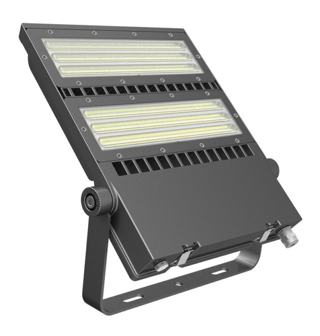FLEX-LENS-240-57K-50x88B 240W Asymmetric floodlight 5700K with 50x88° tilt 45° lens LED Area Light