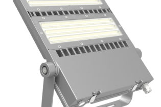 FLEX-LENS-240-57K-50x88S 240W Asymmetric floodlight 5700K with 50x88�� tilt 45�� lens LED Area Light