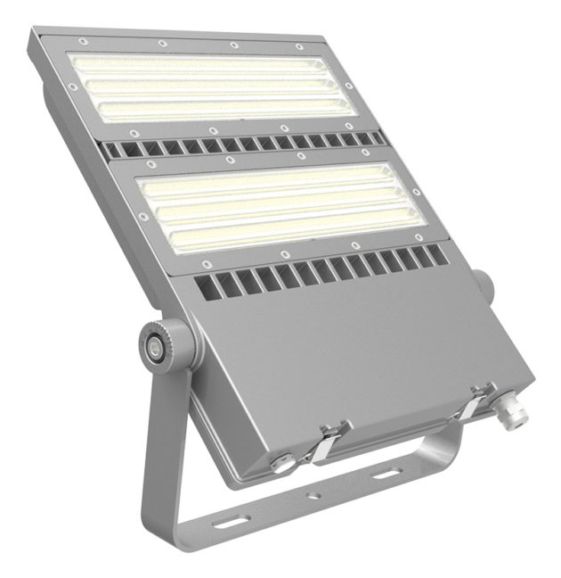 FLEX-LENS-240-57K-50x88S 240W Asymmetric floodlight 5700K with 50x88° tilt 45° lens LED Area Light-0