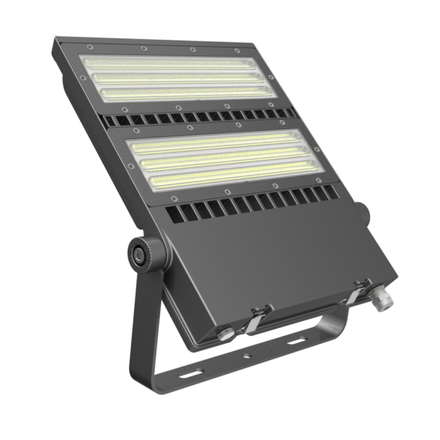 FLEX-LENS Series - 150W-240W Asymmetric Lens 125Lm per Watt LED Area Floodlights