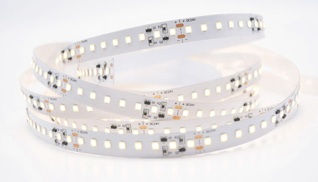 D0-TC-28-2-128-F12-20-FP - 3000K 3300Lm 22W 24VDC 128LEDs Per Mtr Intelligent Temperature Controlled LED Strip