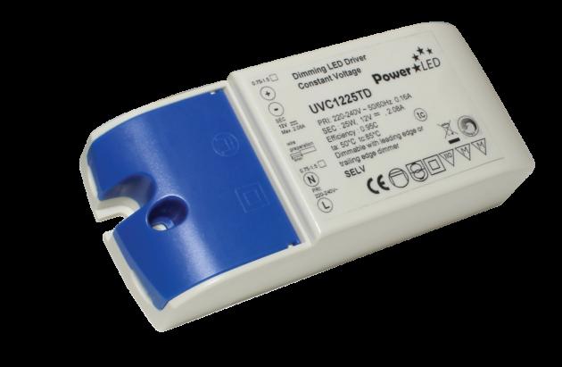 UVC25TD Series - 25W IP20 Constant Voltage Triac Dimming Drivers