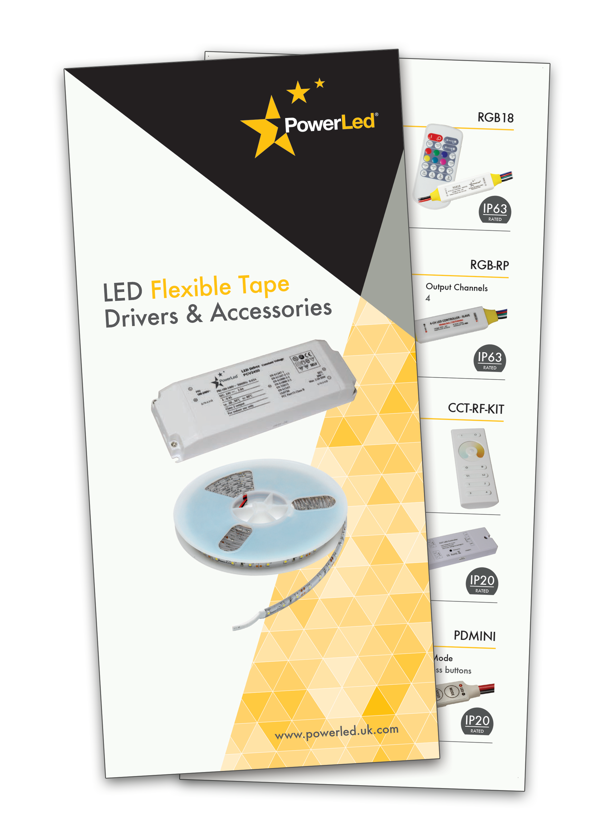 PowerLed LED Flexible Tape Drivers and Accessories Leaflet