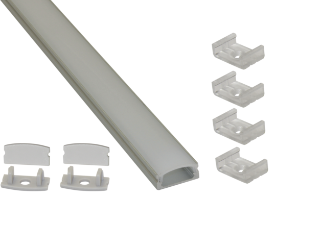 EXT1 Low Profile Surface Mounted Aluminium Extrusion