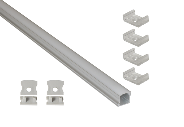 EXT2 Deep Profile Surface Mounted Aluminium Extrusion for