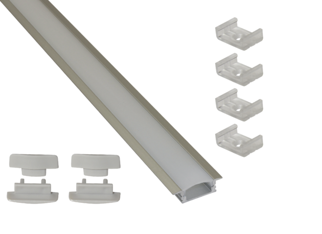 Ext3 Recessed Mounted Aluminium Extrusion For Led Tapes