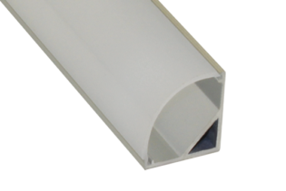 EXT6 - Corner Mounted Flexi Strip Aluminium Extrusion