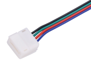 10C10-RGB-65 Solderless Tail Connectors for 10mm LED Flexi Strip Ends