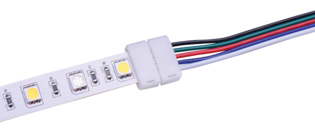 12C-RGB+W-20 Solderless In-Line Joining Connectors for 12mm RGB+W LED Flexible Tape