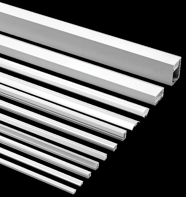Aluminium Extrusions for LED Flexible Tape - EXT Series