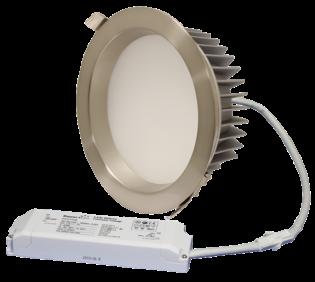 "ZEN7 22W3K-SN 22W Fixed 7"" Round 3000K Satin Nickel LED Downlight"