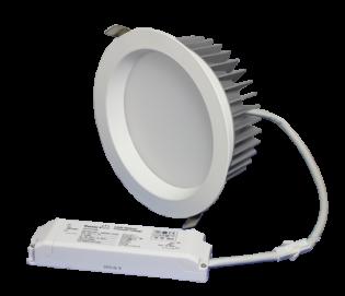 "ZEN7 22W3K-W 22W Fixed 7"" Round 3000K White LED Downlight"