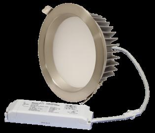 "ZEN8 35W3K-SN 35W Fixed 8"" Round 3000K Satin Nickel LED Downlight"